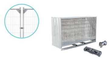 Byggegjerde Standard Forsterket - Komplett pakke (105m)