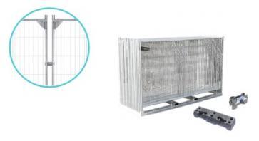 Byggegjerde Premium Forsterket - Komplett pakke (105 m)