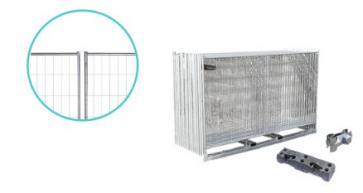 Byggegjerde Premium - Komplett pakke (105 m)