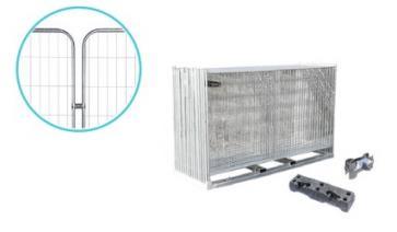 Byggegjerde Premium med runde hjørner - Komplett pakke (105 m)