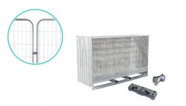 Byggegjerde Standard med runde hjørner - Komplett pakke (105m)