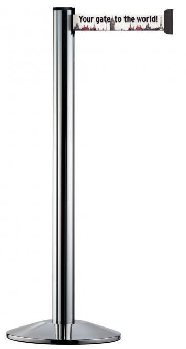 Beltrac Imprint Classic - Avsperringsstolpe med eget trykk (2,3-3,7m)