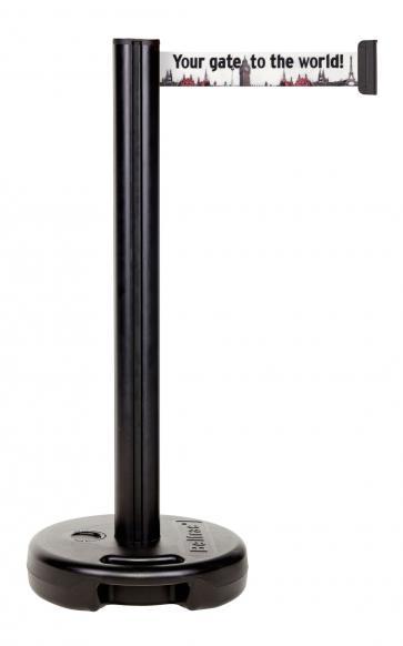 Beltrac Imprint Outdoor - Avsperringsstolpe med eget trykk for utendørsbruk (3,7m)