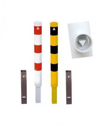 Avtakbar beskyttelsespullert med bakkesokkel & triangellås (Ø152mm)