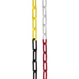 Avsperringspakke -Robust-, 4 stk Plaststolper inkl. 25m kjede (rød/hvit)